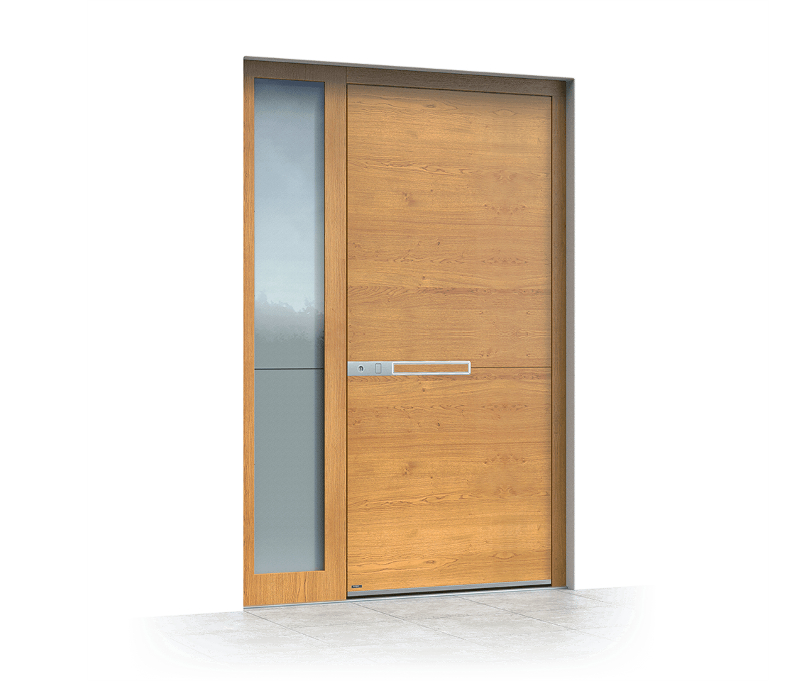 Wooden entrance door 617