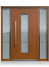 Wooden entrance door 1081