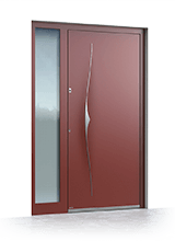 Aluminium entrance door 6017